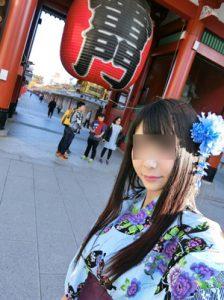 浅草寺と女性